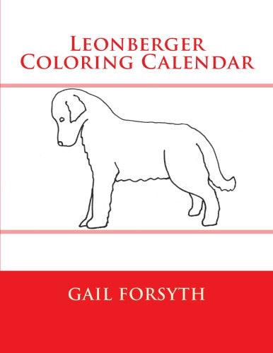 Leonberger Coloring Calendar Book