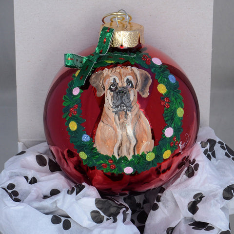 Hand Painted Mastiff Ornament