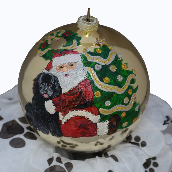 Hand Painted Newfoundland Dog Ornament