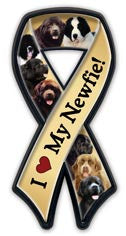 I Love My Newfie Ribbon Tagnet - Magnet