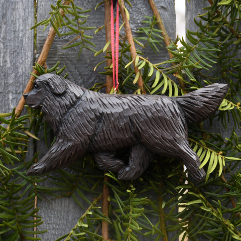 Handcrafted Newfoundland Ornament - brown