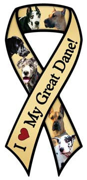 Great Dane Ribbon - Magnet