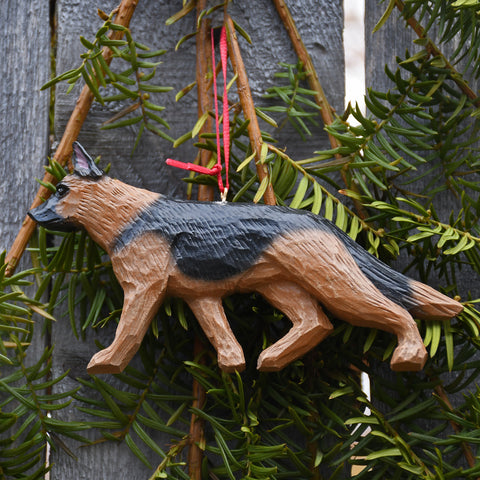 Handcrafted German Shepherd Ornament