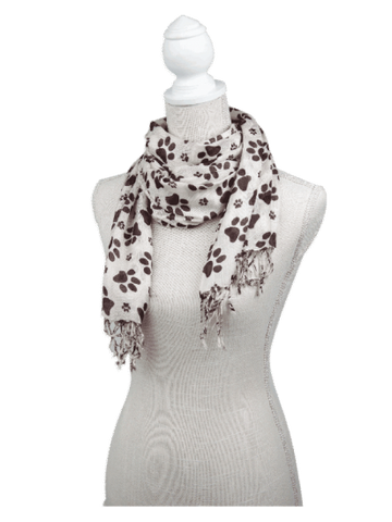 Rayon Scarf - brown/ivory