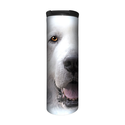 """Stainless Steel Pyr Travel Mug - 17 oz."""