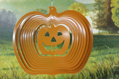 "12"" Jack O Lantern Wind Spinner - Orange Starlight"