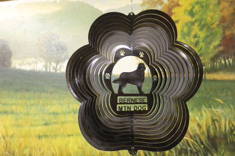 "12"" Bernese Wind Spinner - Black Starlight"