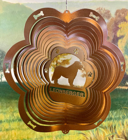 "12"" Leonberger Wind Spinner - Copper Starlight"