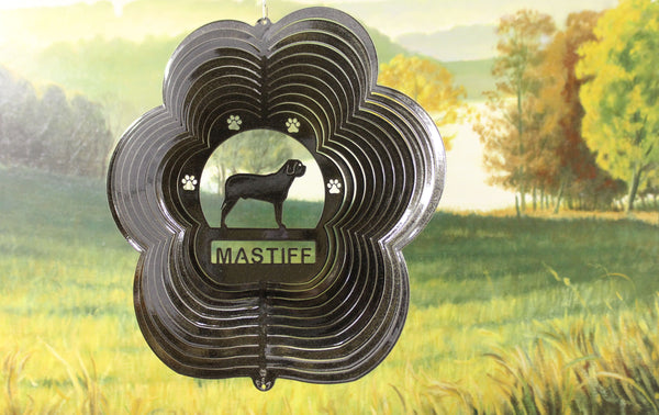 "12"" Mastiff Wind Spinner - Black Starlight"