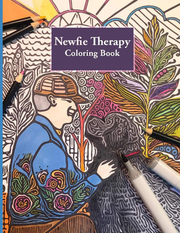 Newfie Therapy: Stress Relieving Adult Coloring Book