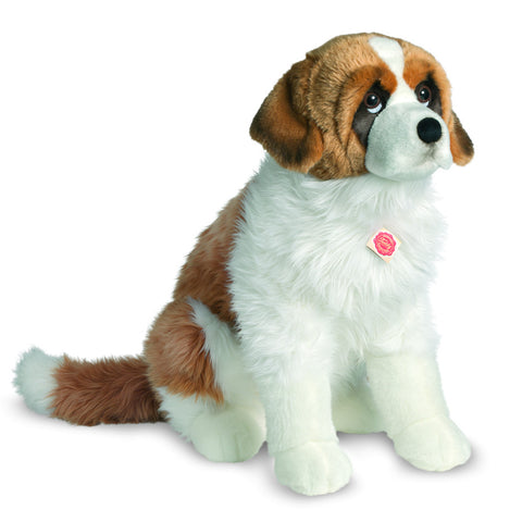 X-LARGE Saint Bernard Sitting Plush Dog