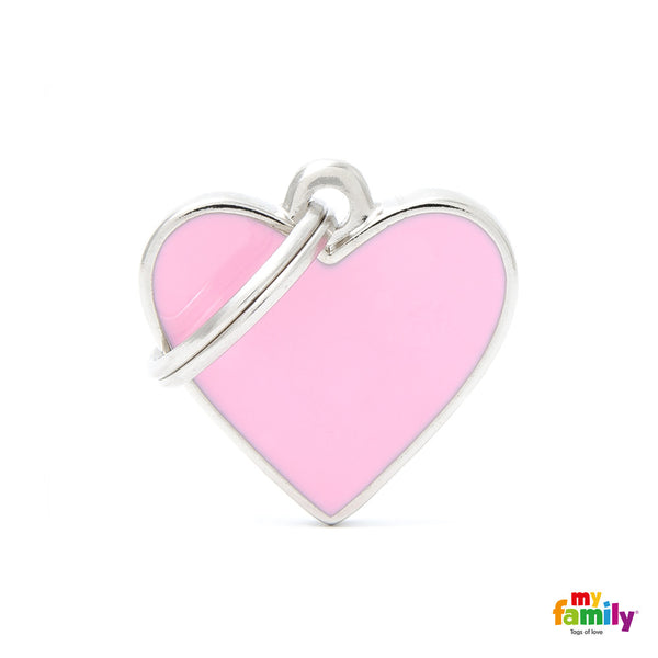 Small Heart Pink Tag