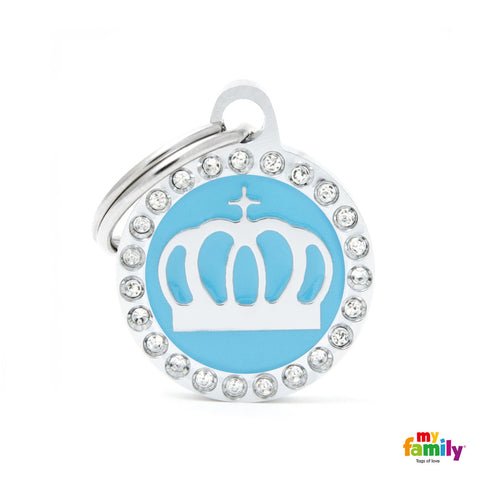 Light Blue Crown Circle Tag