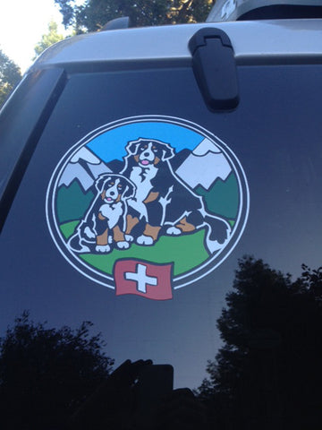 Two Berners - Full Color Decal For Tinted Glass