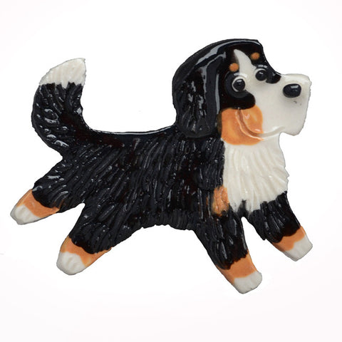 Ceramic Bernese Mountain Dog Pin