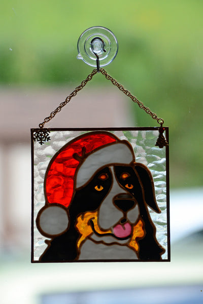 Stained Glass Bernese Ornament