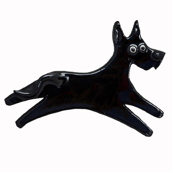 Ceramic Great Dane Pin - Black
