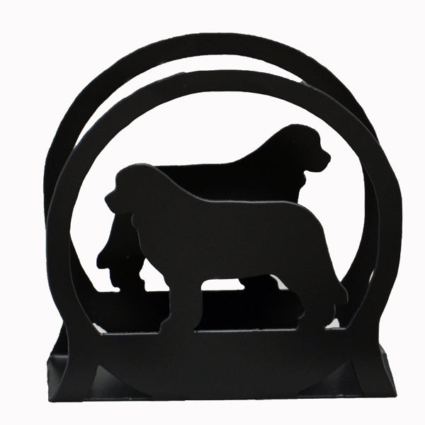 Newfoundland Napkin/Letter Holder - Black