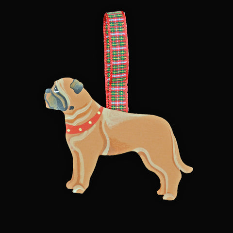 Hand Crafted Bullmastiff Ornament - Fawn