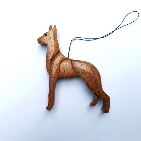 """Great Dane 3-D Wood Art Ornament"" - fawn"