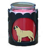 Bullmastiff Jar Candle Wrap - Fawn