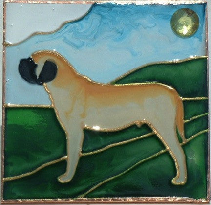 """Stained Glass Mastiff Night Light"" - Full Body"
