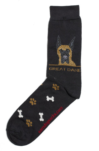 Great Dane socks for men - black
