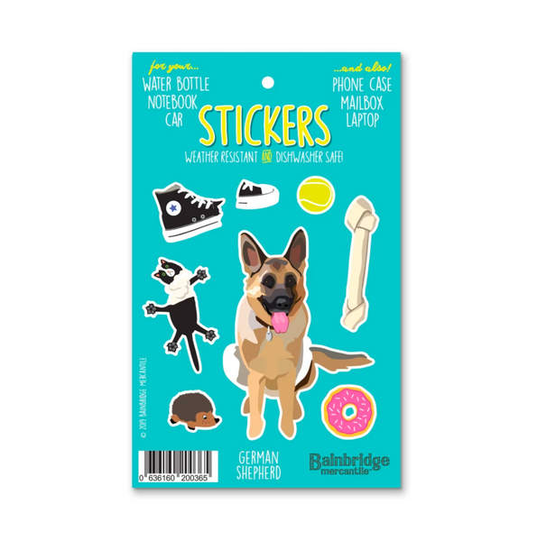 Weather Resistant German Shepherd Stickers