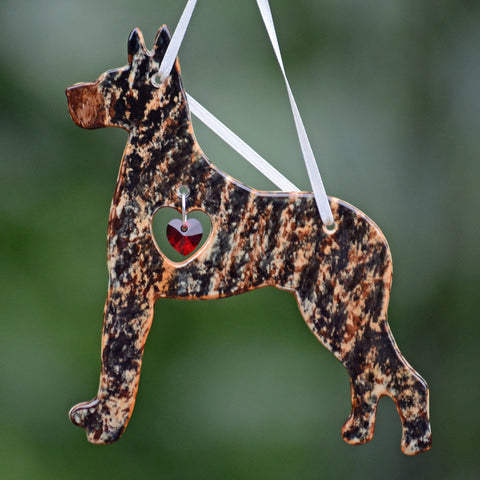 """Porcelain Great Dane Ornament"" - Brindle"