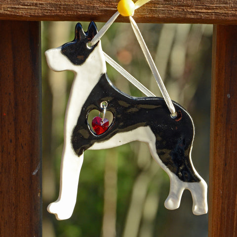"""Porcelain Great Dane Ornament"" - Mantle"