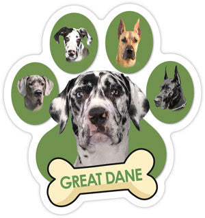 Great Dane Paw & Bone - Magnet