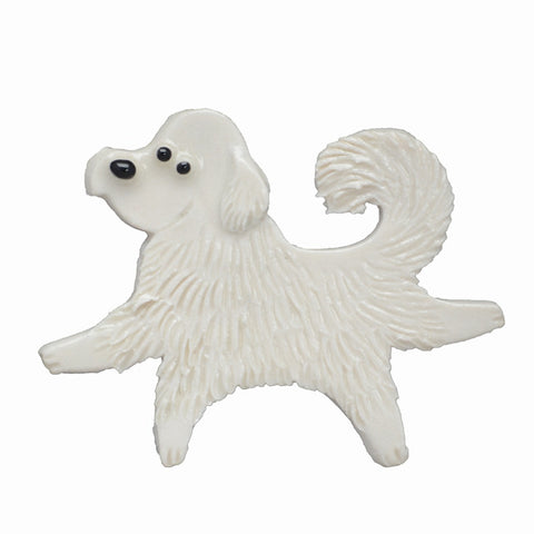 Ceramic Great Pyrenees Pin