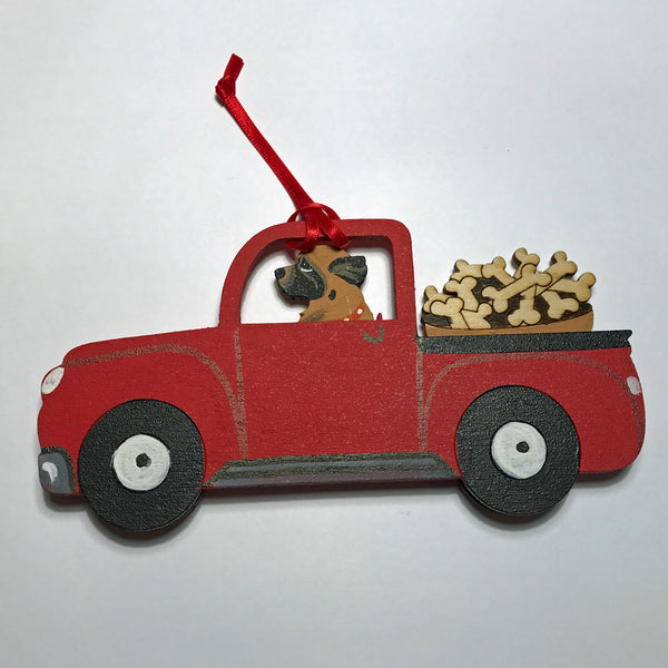 Red Truck Leo Ornament