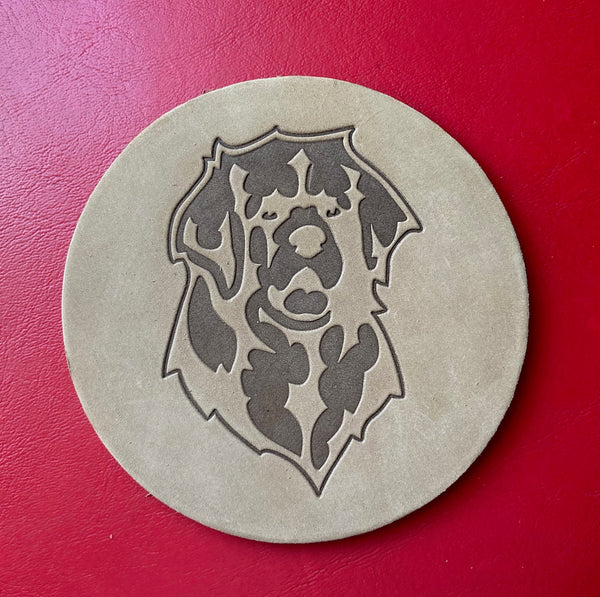 Leather Leo Coasters - sold individually