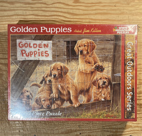 golden puppies 1000 piece puzzle, new