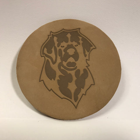 """Leather Leo Coasters"" - set of 4"