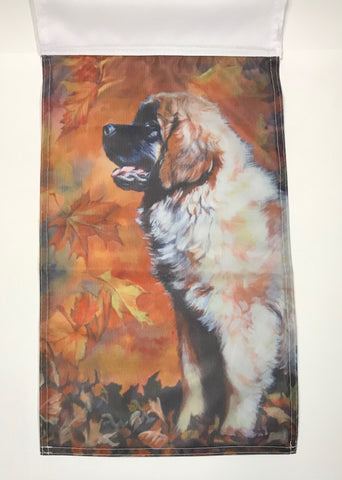 Autumn Leo Pup - Garden Sized Flag
