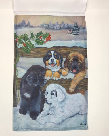 Four Puppies - Garden Sized Flag