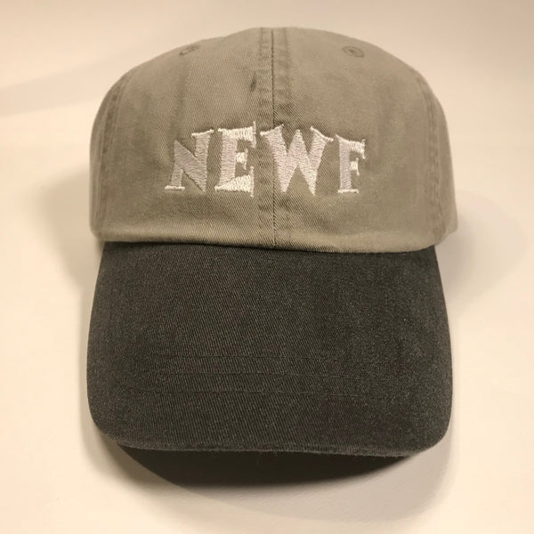 """NEWF, embroidered cap - stone & white"""