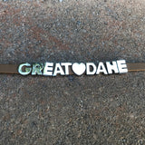 """GREAT DANE"" charm/friendship bracelet - 7.5 inches"