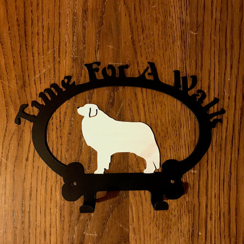 Time For A Walk, Wall Hooks - Great Pyrenees