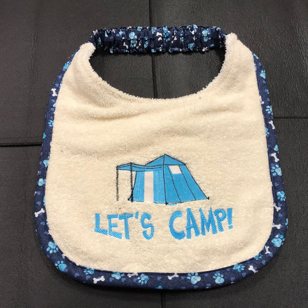 let's camp!, Drool Bib