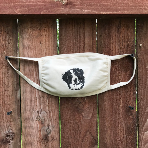 Bernese Cotton Face Mask - natural