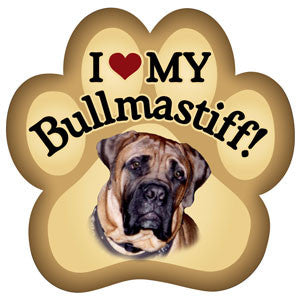 I Love my Bullmastiff - Magnet