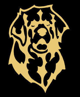 Leonberger Decal for Tinted Glass - Gold