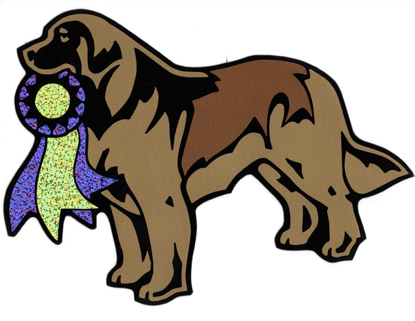 """Leonberger Standing with ribbon - Magnet"" - NEW"