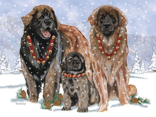 """Leonberger Christmas Cards"""