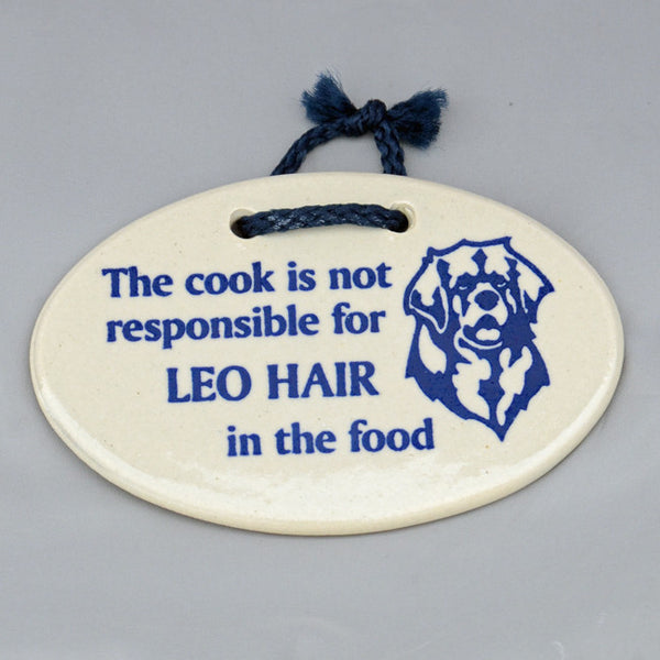 """Leo Hair In The Food"" - Plaque"