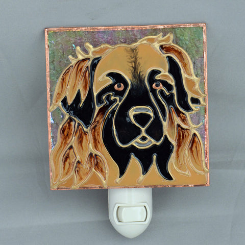 """Stained Glass Leonberger Night Light"""