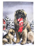 Leonberger & Pup Garden Flag - NEW